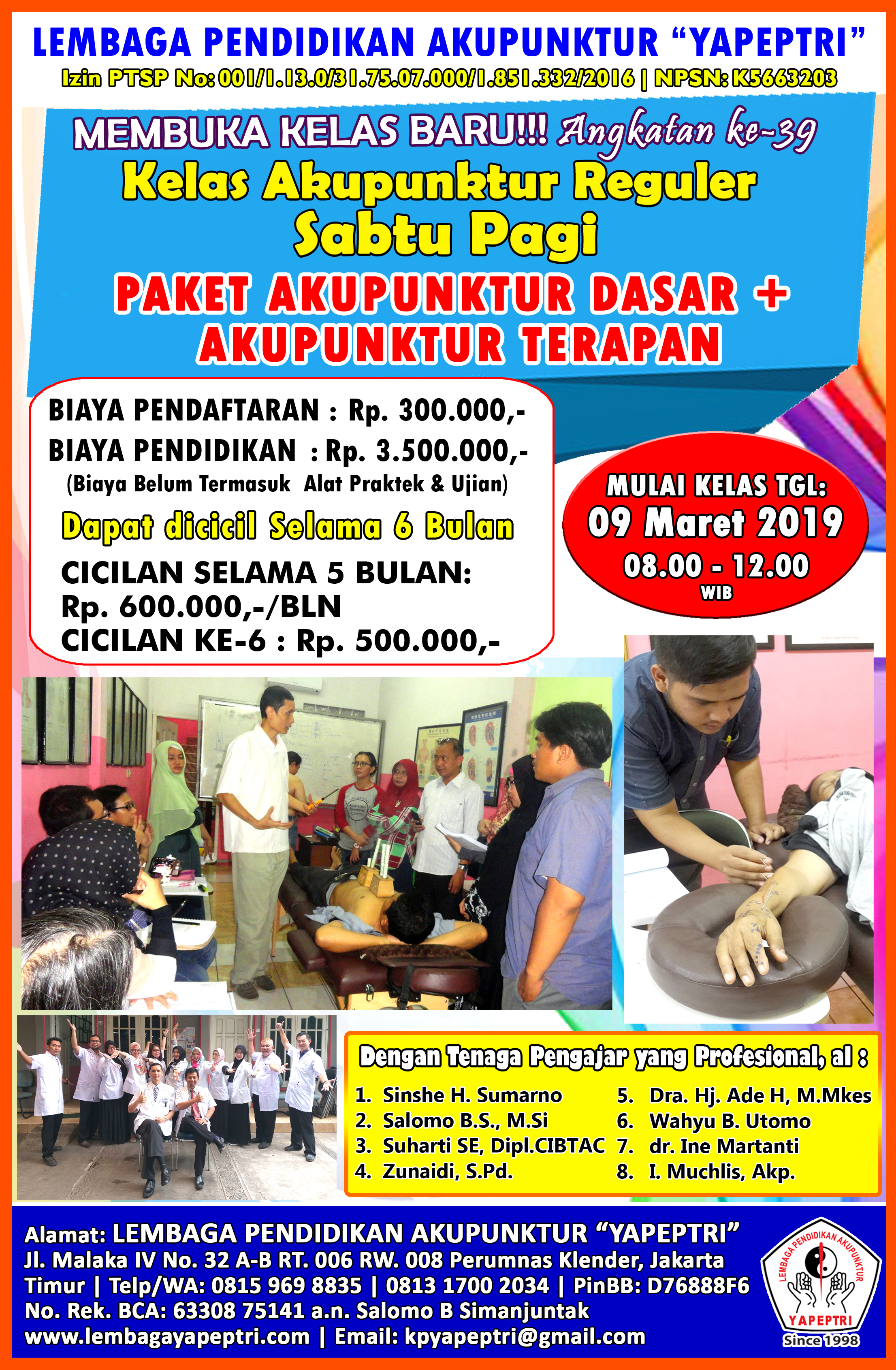 "Seminar dan Workshop Trigger Point Therapy ""ONE NEEDLE STYLE"" ""Dry Needling For Pain Management"" Level 1 Basic"