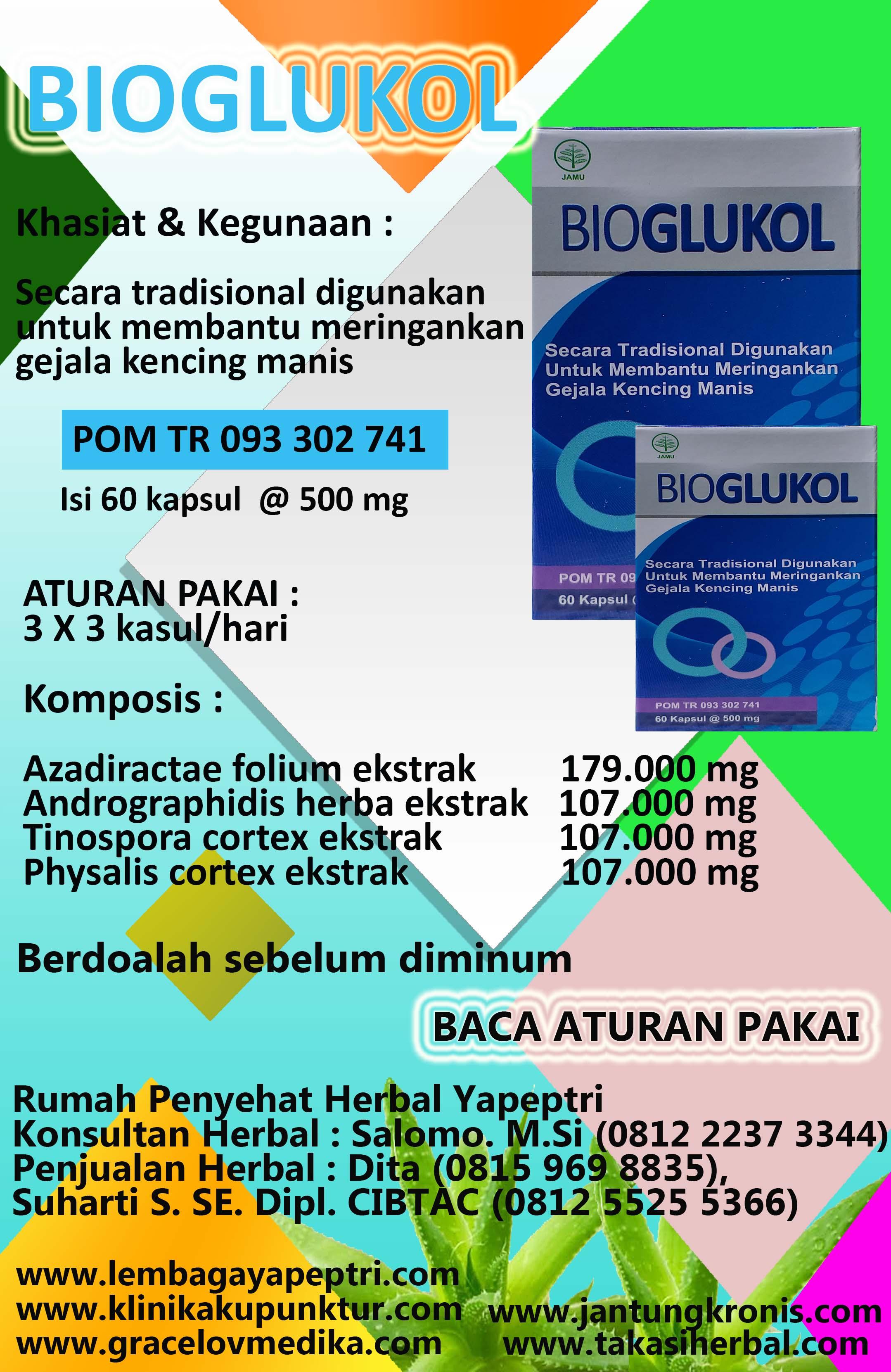HERBAL BIOGLUKOL Untuk keluhan diabetes / kencing manis